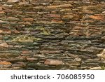 fences and walls of houses are... | Shutterstock . vector #706085950