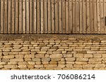 fences and walls of houses are... | Shutterstock . vector #706086214