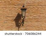 street lantern on the wall of... | Shutterstock . vector #706086244