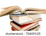 open book for school on white... | Shutterstock . vector #70609135