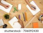students in classroom | Shutterstock . vector #706092430