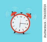 ringing alarm clock icon. wake... | Shutterstock .eps vector #706103014