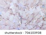 white winter paper background... | Shutterstock . vector #706103938