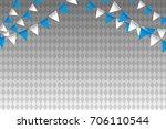 oktoberfest   blue and white... | Shutterstock .eps vector #706110544