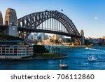 sydney harbor bridge | Shutterstock . vector #706112860