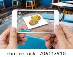 augmented reality marketing... | Shutterstock . vector #706113910
