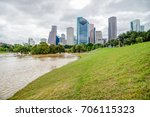 downtown houston at daytime... | Shutterstock . vector #706115323
