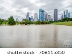 downtown houston at daytime... | Shutterstock . vector #706115350