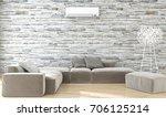 modern bright interiors. 3d...   Shutterstock . vector #706125214