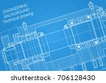 mechanical engineering drawings ... | Shutterstock .eps vector #706128430