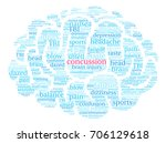 concussion word cloud on a...   Shutterstock .eps vector #706129618