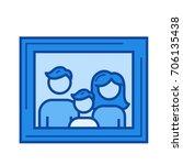 family portrait vector line... | Shutterstock .eps vector #706135438