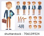 happy student character with... | Shutterstock .eps vector #706139524