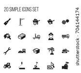 set of 20 editable construction ...