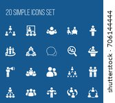 set of 20 editable team icons....
