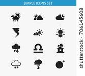 set of 12 editable climate...