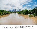 high and fast water rising in... | Shutterstock . vector #706152610