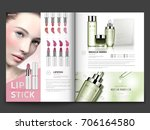 cosmetic magazine template ... | Shutterstock .eps vector #706164580
