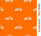 motorcycle pattern repeat... | Shutterstock .eps vector #706178980