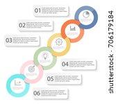template timeline infographic... | Shutterstock .eps vector #706179184
