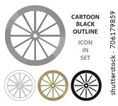 cart wheel icon cartoon. singe... | Shutterstock .eps vector #706179859
