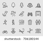 park outdoor line icon | Shutterstock .eps vector #706180144