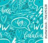 calligraphy hand lettering... | Shutterstock .eps vector #706190128