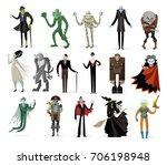 classic monsters creatures... | Shutterstock .eps vector #706198948