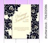 vintage delicate invitation...   Shutterstock .eps vector #706202086