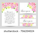 romantic invitation. wedding ... | Shutterstock . vector #706204024
