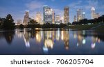 panorama reflection of downtown ...   Shutterstock . vector #706205704