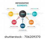 business infographic timeline... | Shutterstock .eps vector #706209370