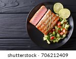 freshly cooked grilled tuna... | Shutterstock . vector #706212409