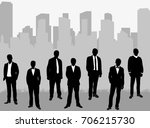 vector  isolated silhouette... | Shutterstock .eps vector #706215730