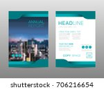 annual report brochure layout... | Shutterstock .eps vector #706216654