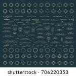 huge rosette wicker border... | Shutterstock . vector #706220353