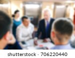 blur of business meeting in...   Shutterstock . vector #706220440