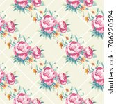 seamless floral pattern with... | Shutterstock .eps vector #706220524