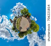 green little planet with trees  ... | Shutterstock . vector #706221814