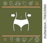 women waist  weight loss  diet  ... | Shutterstock .eps vector #706222060