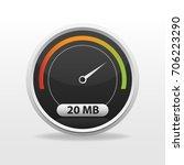 internet speed limit meter... | Shutterstock .eps vector #706223290