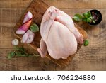 fresh chicken with spices on...   Shutterstock . vector #706224880