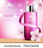 sakura skin care cosmetic... | Shutterstock .eps vector #706226608