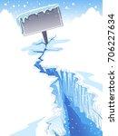 winter illustration featuring a ... | Shutterstock .eps vector #706227634