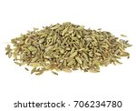 Fennel Seeds On A White...