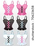 Bustier Illustrations - stock vector
