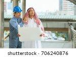 arabian business man is working ... | Shutterstock . vector #706240876