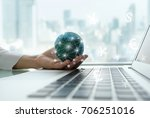 digital economy and income... | Shutterstock . vector #706251016