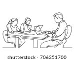 continuous line drawing of... | Shutterstock .eps vector #706251700