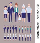 family characters creation set  ... | Shutterstock .eps vector #706254010